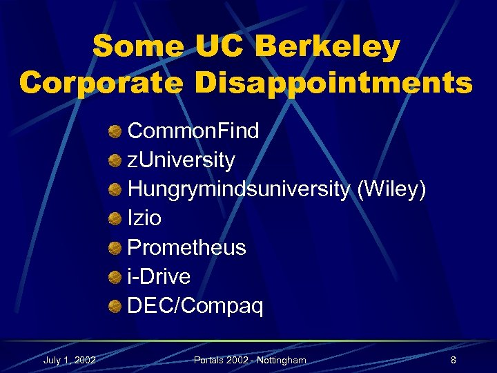 Some UC Berkeley Corporate Disappointments Common. Find z. University Hungrymindsuniversity (Wiley) Izio Prometheus i-Drive