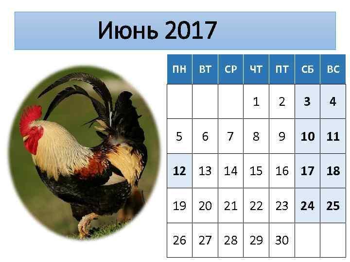 Июнь 2017 ПН 6 СР 7 ЧТ ПТ СБ ВС 1 5 ВТ 2