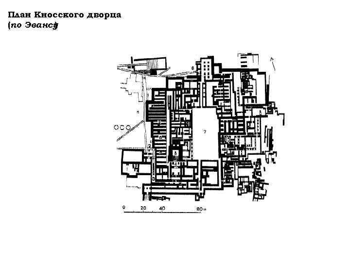 План Кносского дворца (по Эвансу ) Кносс. План дворца (по Эвансу ):