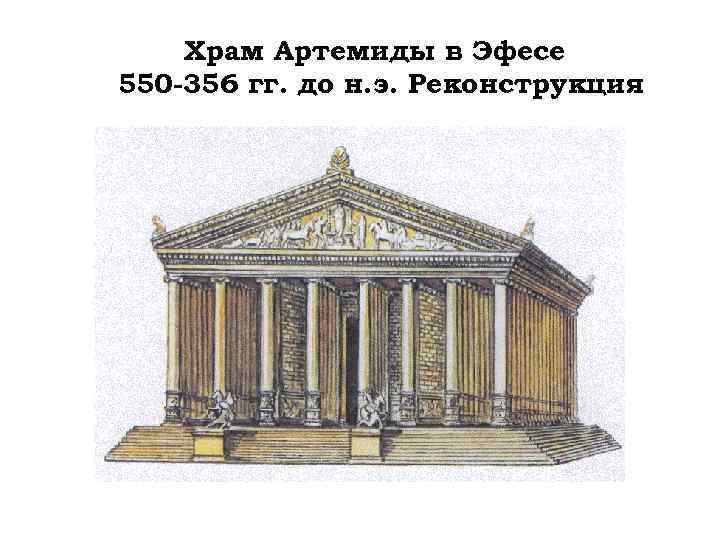 Храм Артемиды в Эфесе 550 -356 гг. до н. э. Реконструкция