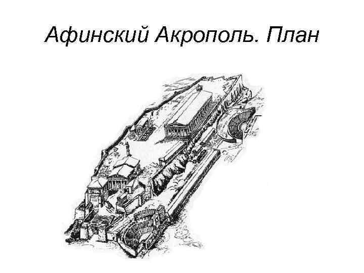 Афинский Акрополь. План