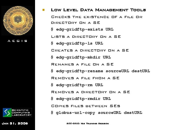 n Low Level Data Management Tools Checks the existence of a file or directory