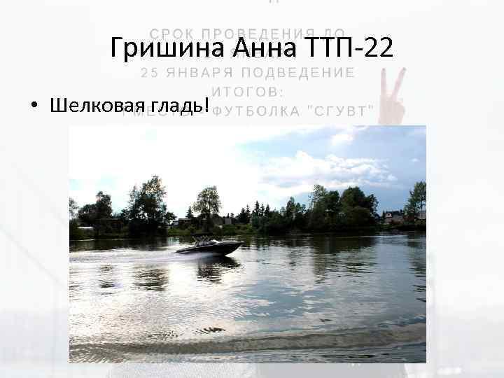 Гришина Анна ТТП-22 • Шелковая гладь!