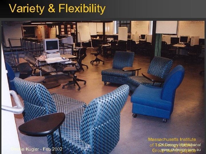 Variety & Flexibility Cecilia Kugler - Feb 2002 Massachusetts Institute CK Design (USA) –