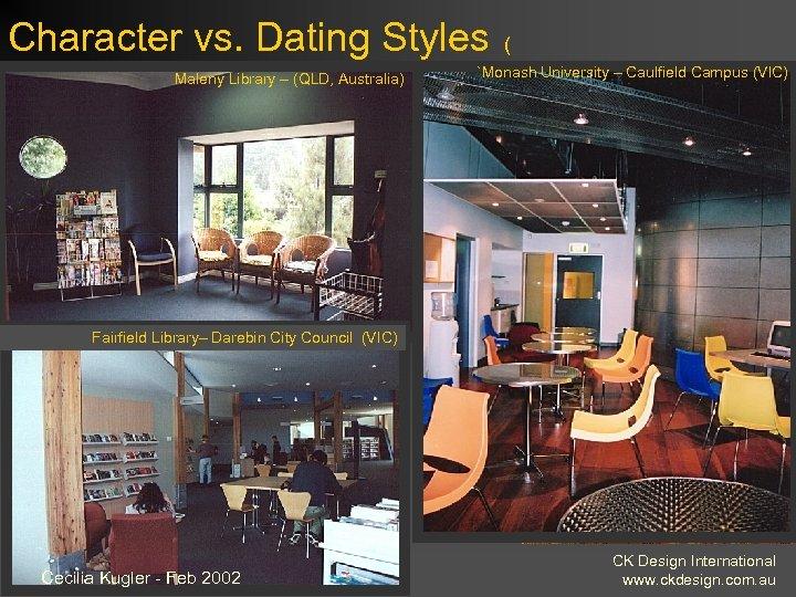 Character vs. Dating Styles Maleny Library – (QLD, Australia) ( `Monash University – Caulfield