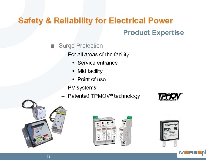 Safety & Reliability for Electrical Power Product Expertise Surge Protection – For all areas