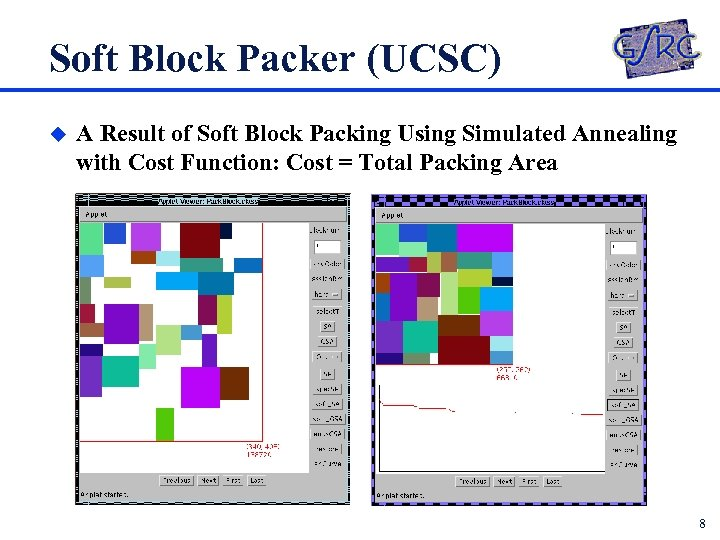 Soft Block Packer (UCSC) u A Result of Soft Block Packing Using Simulated Annealing