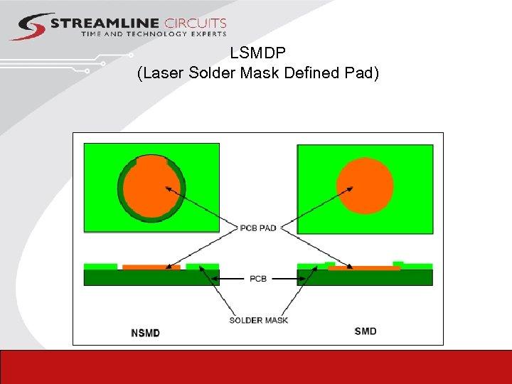 LSMDP (Laser Solder Mask Defined Pad)