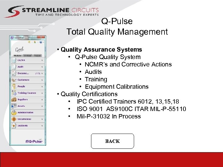Q-Pulse Total Quality Management • Quality Assurance Systems • Q-Pulse Quality System • NCMR's