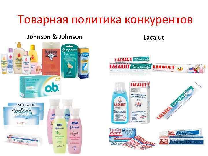 Товарная политика конкурентов Johnson & Johnson Lacalut