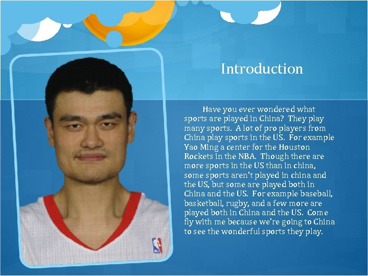 Introduction Have you ever wondered what sports are played in China? They play many