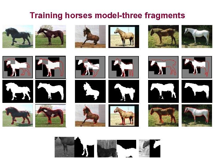 Training horses model-three fragments