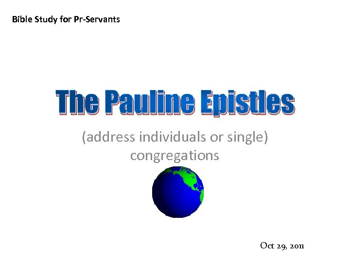 Pauline letters in the bible