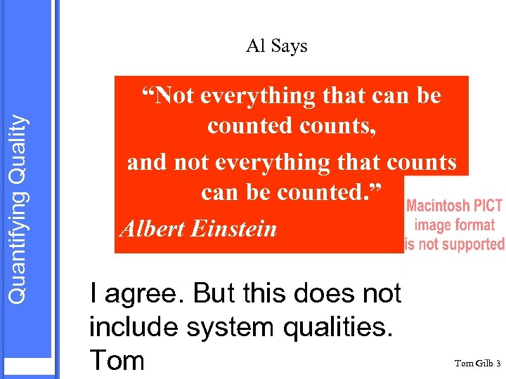 "Quantifying Quality Al Says ""Not everything that can be counted counts, and not everything"