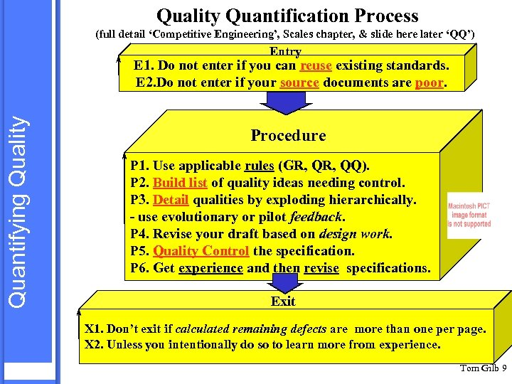 Quality Quantification Process (full detail 'Competitive Engineering', Scales chapter, & slide here later 'QQ')