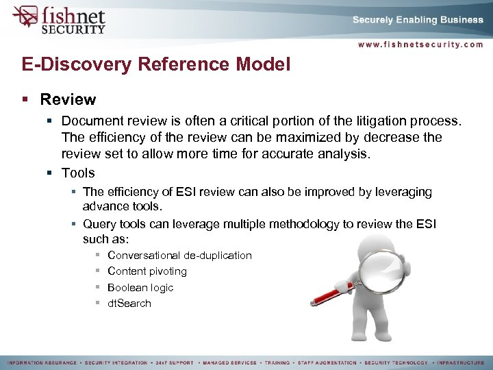 E-Discovery Reference Model § Review § Document review is often a critical portion of
