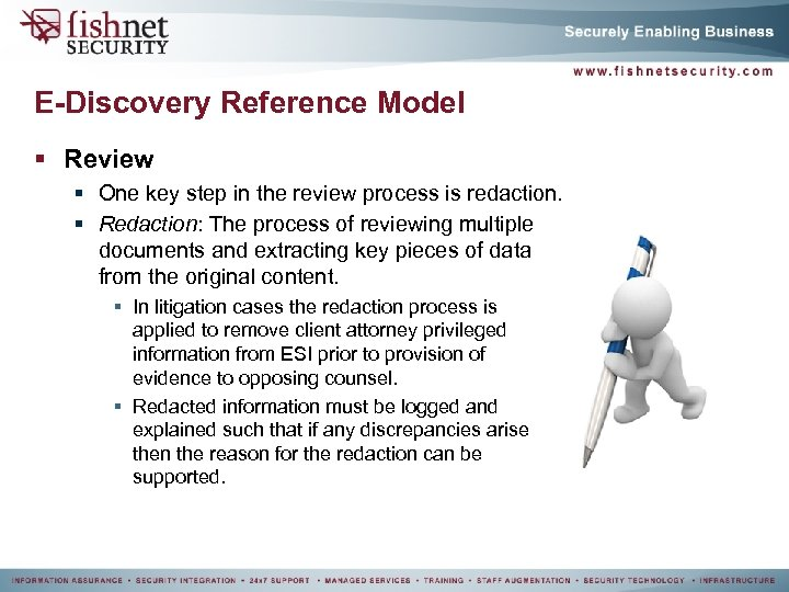 E-Discovery Reference Model § Review § One key step in the review process is
