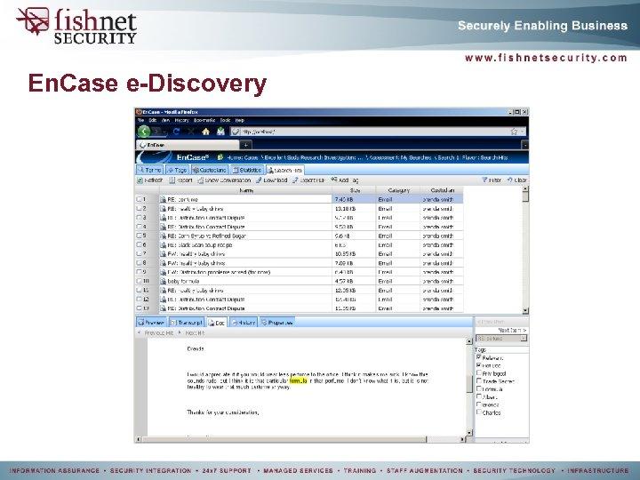 En. Case e-Discovery