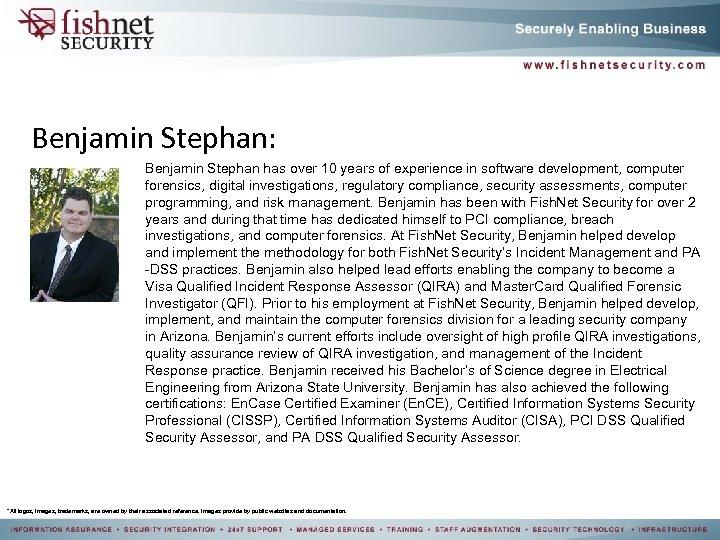 Benjamin Stephan: Benjamin Stephan has over 10 years of experience in software development, computer