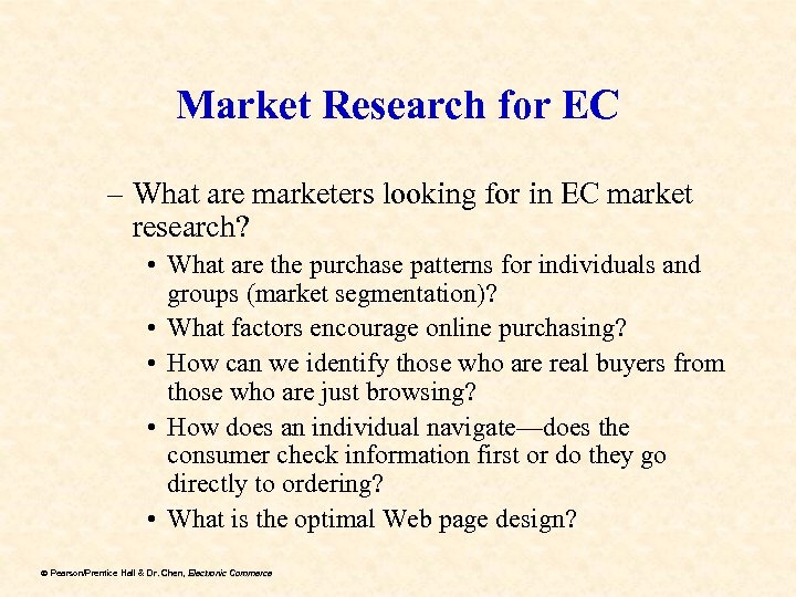 Market Research for EC – What are marketers looking for in EC market research?