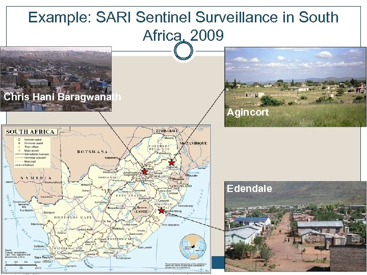 Example: SARI Sentinel Surveillance in South Example: SARI sentinel sites in South Africa, 2009