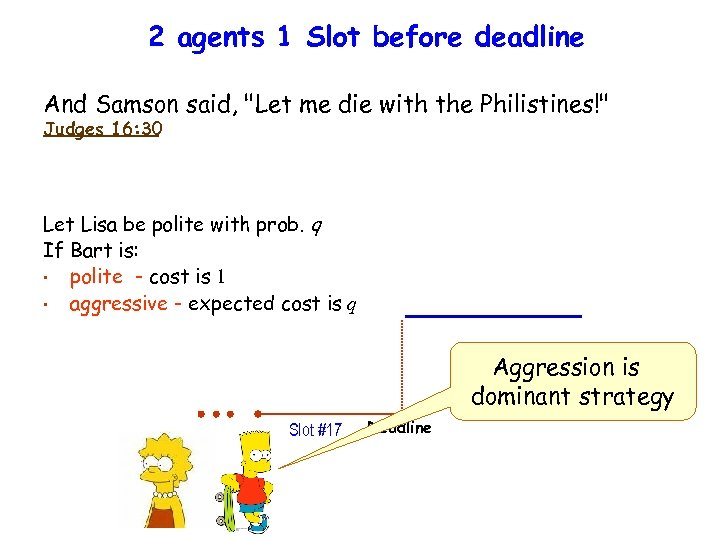 2 agents 1 Slot before deadline And Samson said,
