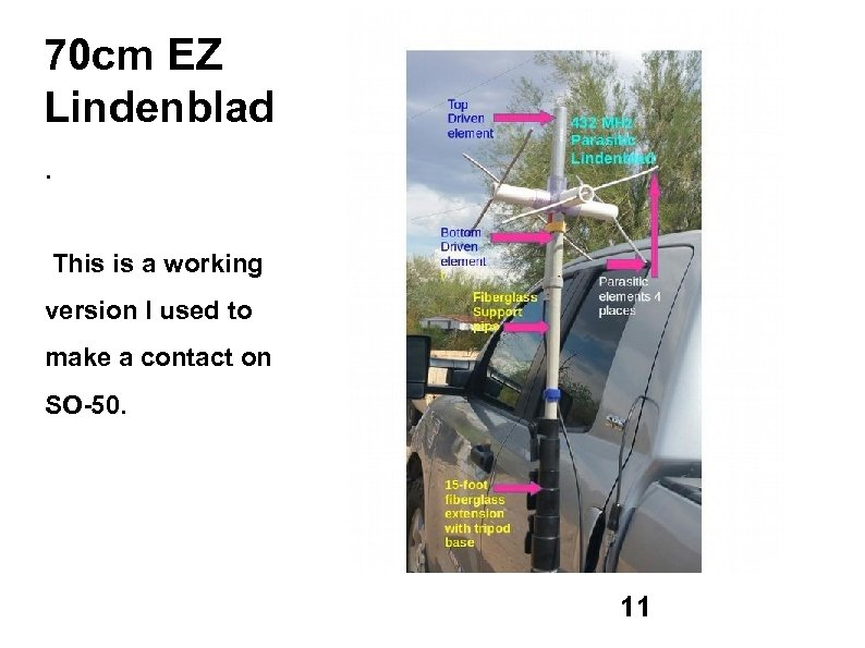 70 cm EZ Lindenblad. This is a working version I used to make a
