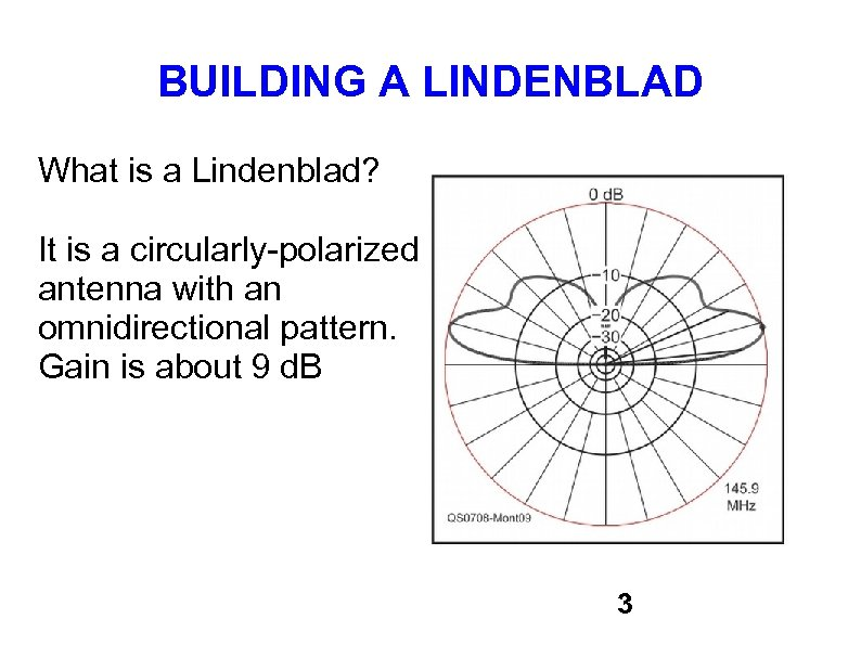 BUILDING A LINDENBLAD What is a Lindenblad? It is a circularly-polarized antenna with an