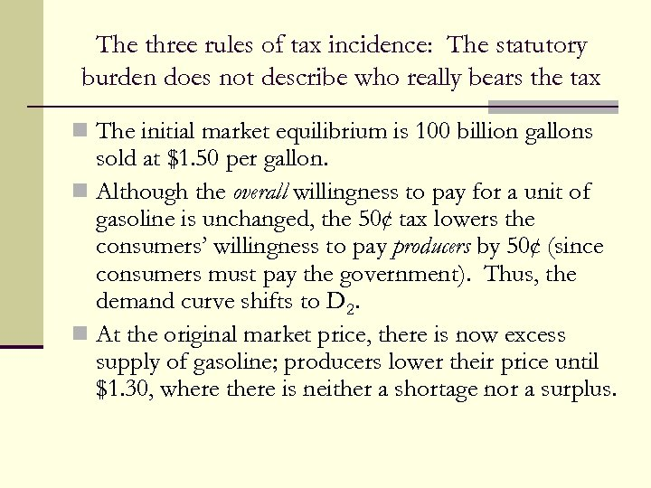 The three rules of tax incidence: The statutory burden does not describe who really