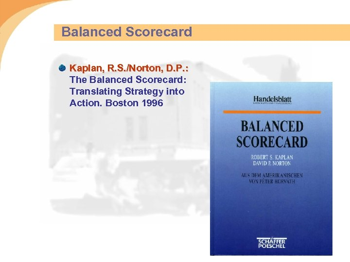 Balanced Scorecard Kaplan, R. S. /Norton, D. P. : The Balanced Scorecard: Translating Strategy