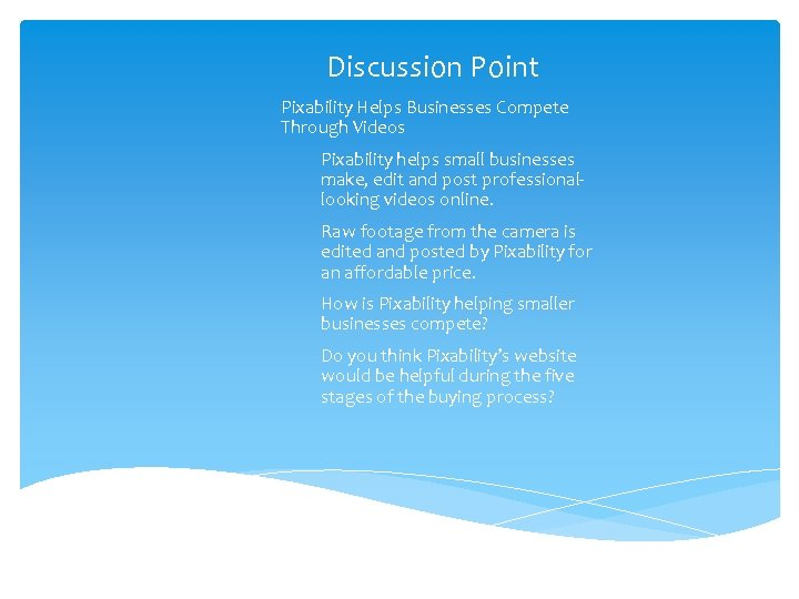 Discussion Point Pixability Helps Businesses Compete Through Videos Pixability helps small businesses make, edit