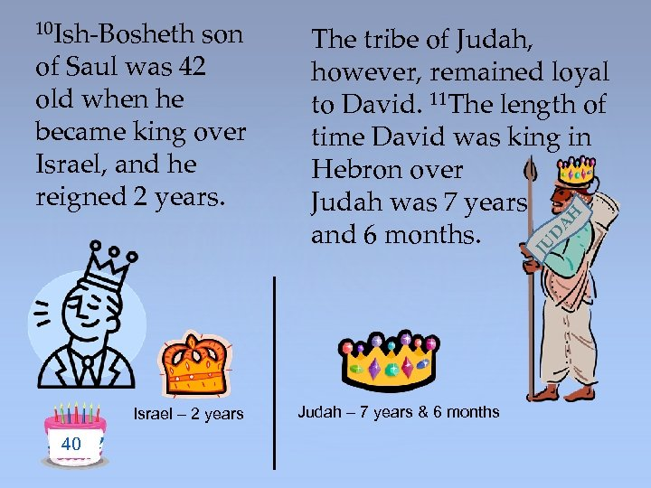 JU D A of Saul was 42 old when he became king over