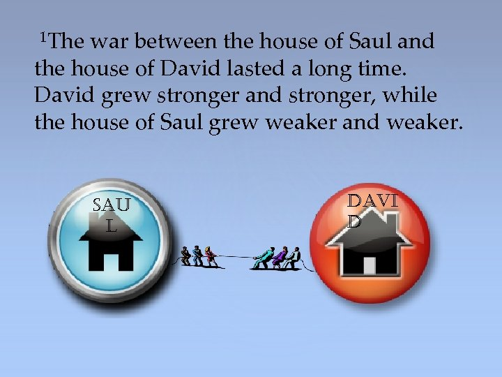 The war between the house of Saul and the house of David lasted