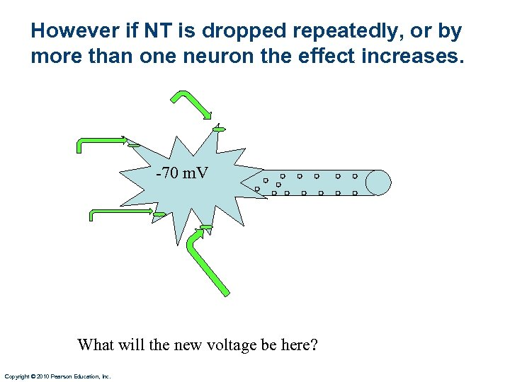 However if NT is dropped repeatedly, or by more than one neuron the effect