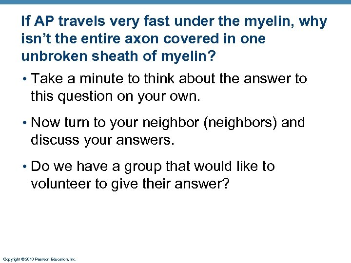 If AP travels very fast under the myelin, why isn't the entire axon covered