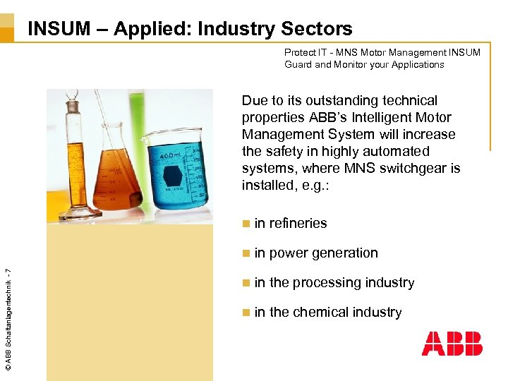 INSUM – Applied: Industry Sectors Protect IT - MNS Motor Management INSUM Guard and