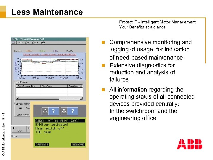 Less Maintenance Protect IT - Intelligent Motor Management Your Benefits at a glance Comprehensive