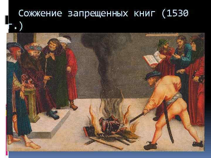Сожжение запрещенных книг (1530 г. )
