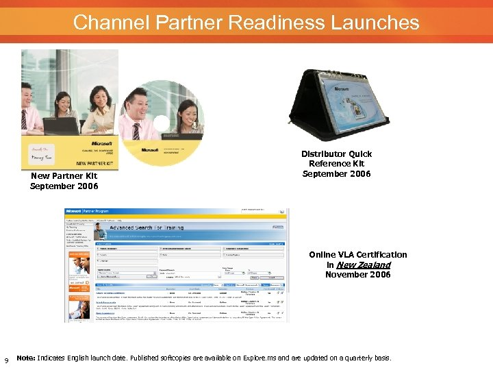 Channel Partner Readiness Launches New Partner Kit September 2006 Distributor Quick Reference Kit September