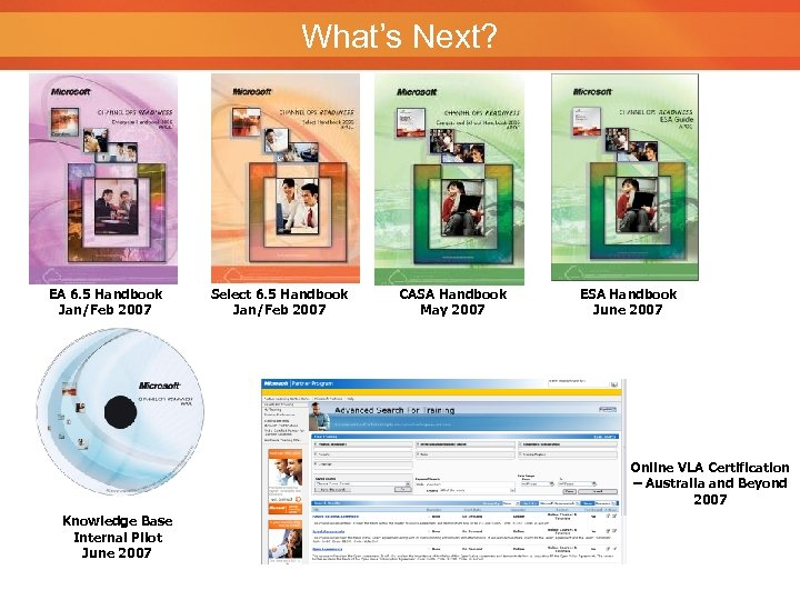 What's Next? EA 6. 5 Handbook Jan/Feb 2007 Select 6. 5 Handbook Jan/Feb 2007