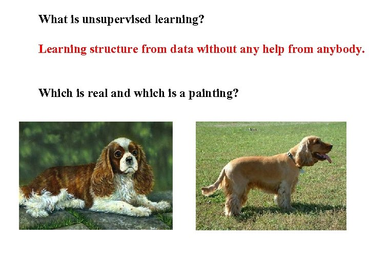 What is unsupervised learning? Learning structure from data without any help from anybody. Which