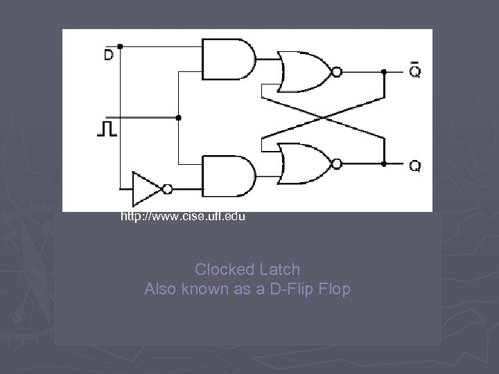 http: //www. cise. ufl. edu Clocked Latch Also known as a D-Flip Flop