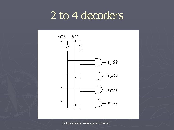 2 to 4 decoders http: //users. ece. gatech. edu