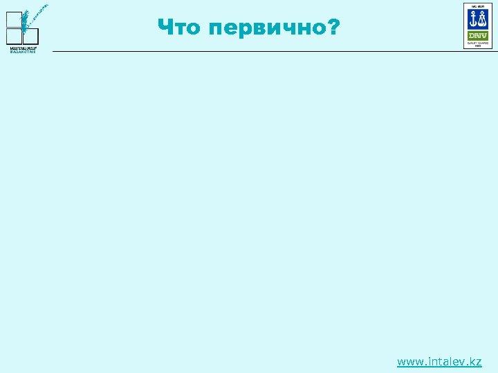 Что первично? www. intalev. kz