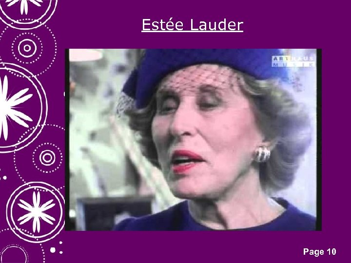 Estée Lauder Click here to download this powerpoint template : White Snowflakes over Purple