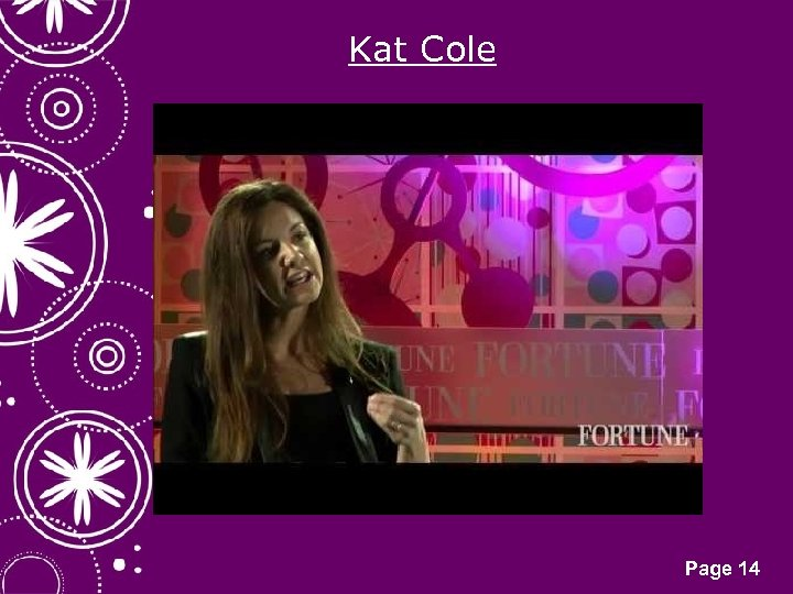Kat Cole Click here to download this powerpoint template : White Snowflakes over Purple
