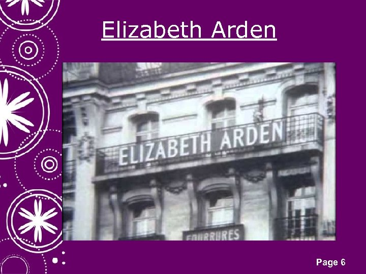 Elizabeth Arden Click here to download this powerpoint template : White Snowflakes over Purple