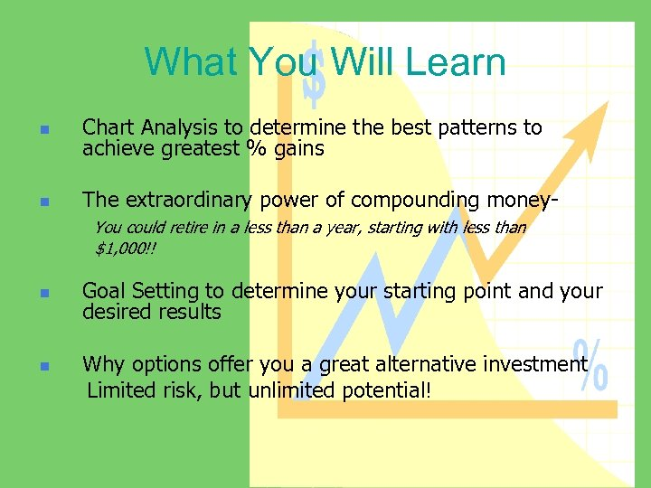 What You Will Learn n Chart Analysis to determine the best patterns to achieve