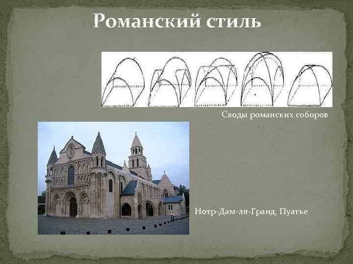 Романский стиль Своды романских соборов Нотр-Дам-ля-Гранд, Пуатье