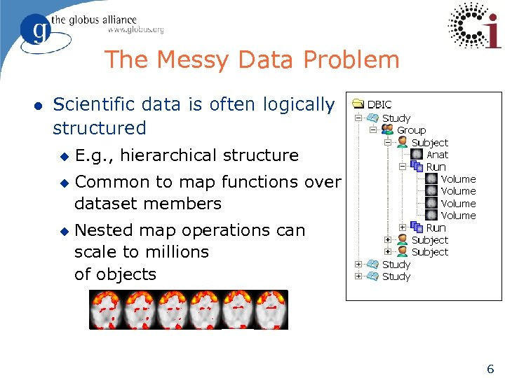 The Messy Data Problem l Scientific data is often logically structured u u u